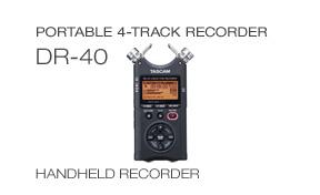 DR-40 Handheld 4-track recorder
