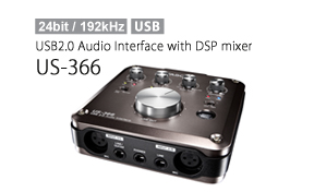 US-366 USB2.0 Audio Interface with DSP mixer