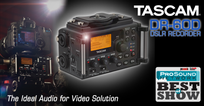 TASCAM DR-60D Audio for Video Recorder