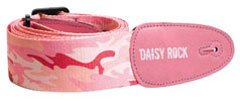 Daisy Rock; Guitar Strap; Pink Camoflage