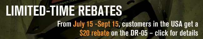TASCAM summer rebate July 15 - September 15