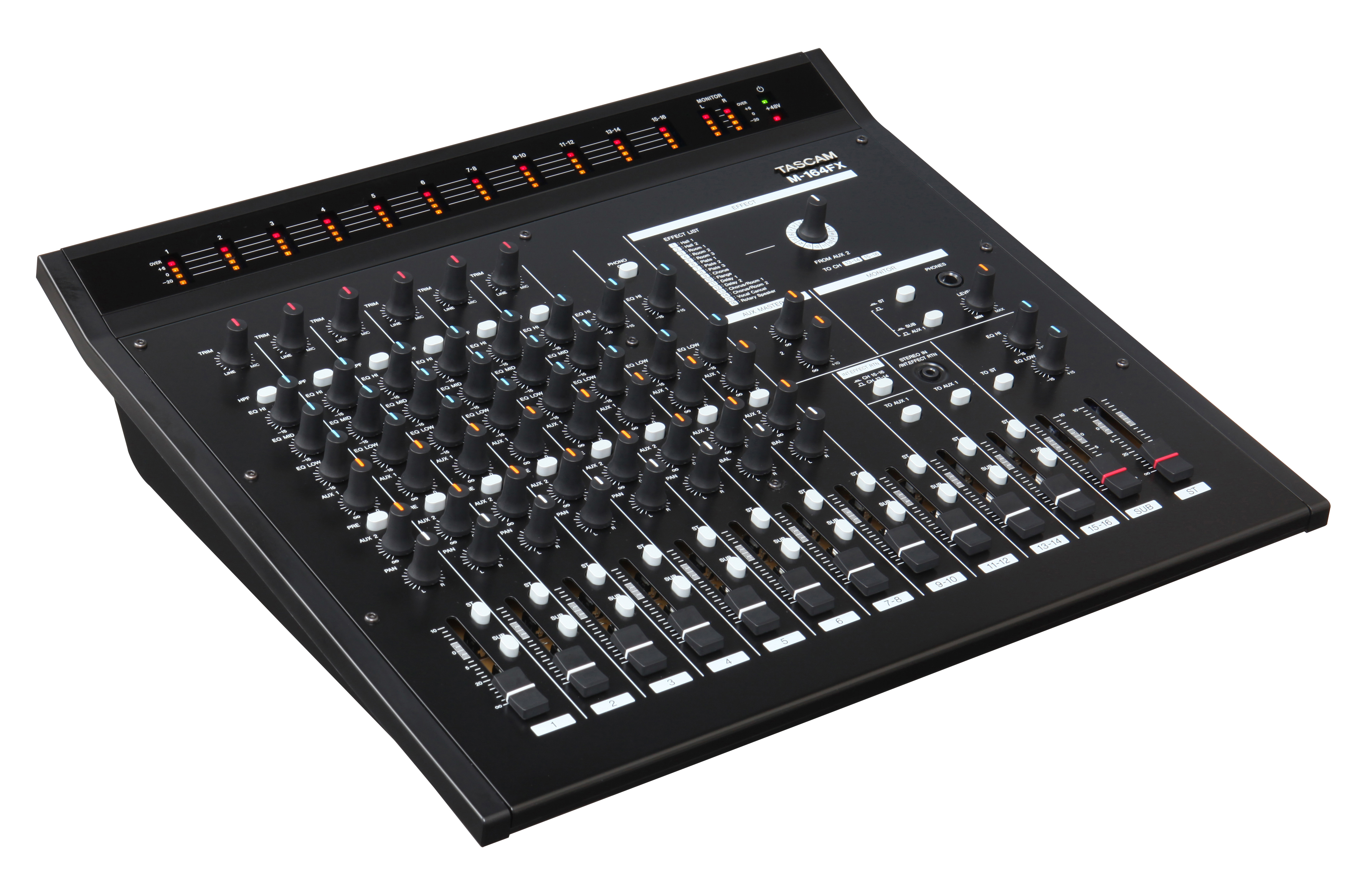 TASCAM M-164FX 16-CHANNEL MIXER WITH DIGITAL EFFECTS