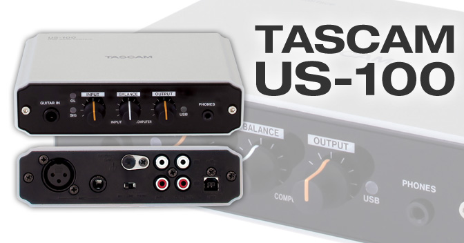 US-100 - Bus-powered USB 2.0 audio interface