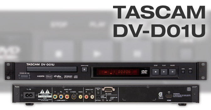 Dv D01u Rackmountable Single Disc Dvd Player