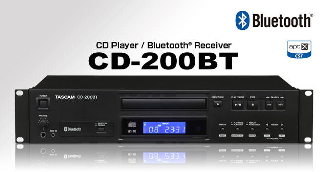 Cd player with bluetooth