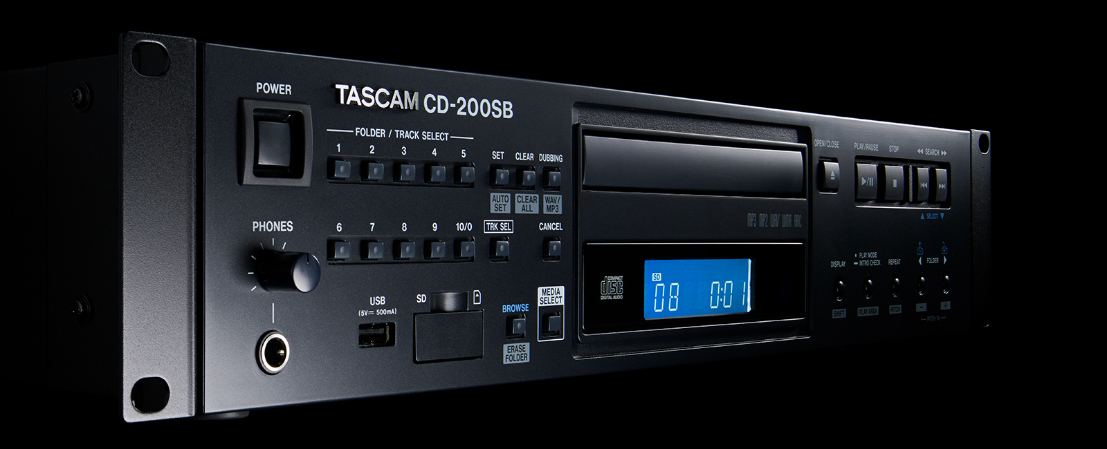 Tascam cd-200sb | solid-state/cd player.