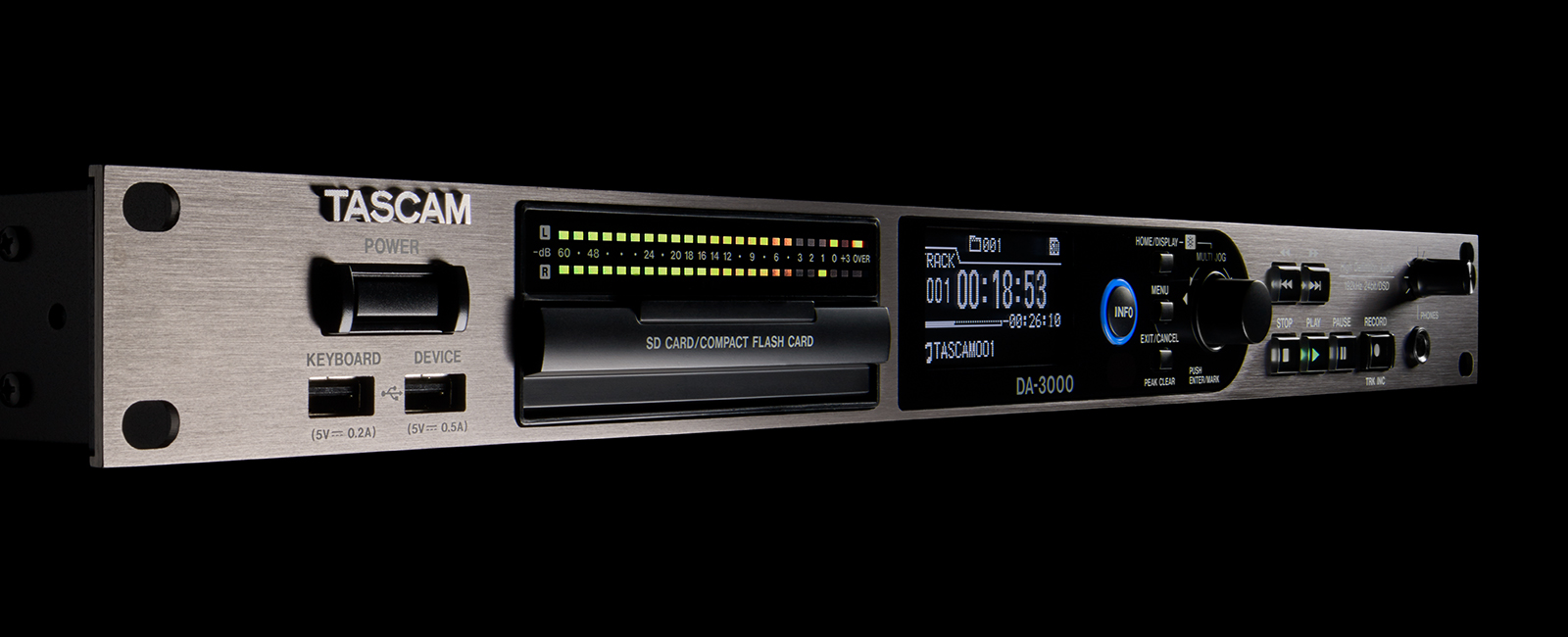 Da 3000 Features Tascam The Project Is A Simple 12bit 8channel Analog To Digital Converter Stereo Master Recorder Ad
