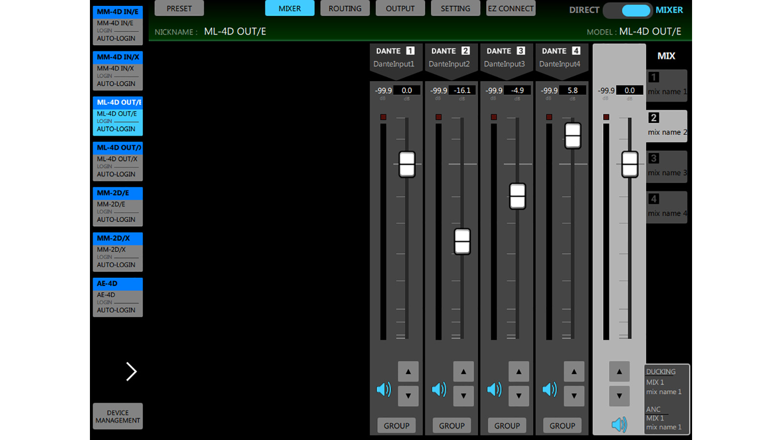 ML-4D/OUT-E | FEATURES | TASCAM - United States