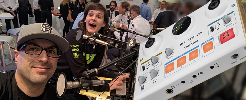 Podcasters rAVe About MiNiSTUDIO at InfoComm