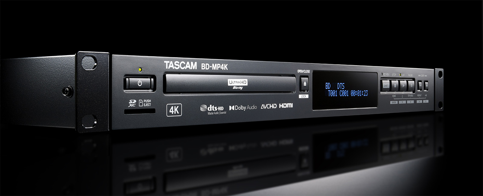 Tascam Expands Professional Blu Ray Line With Bd Mp4k Professional Grade 4k Uhd Blu Ray Player News Details Tascam United States