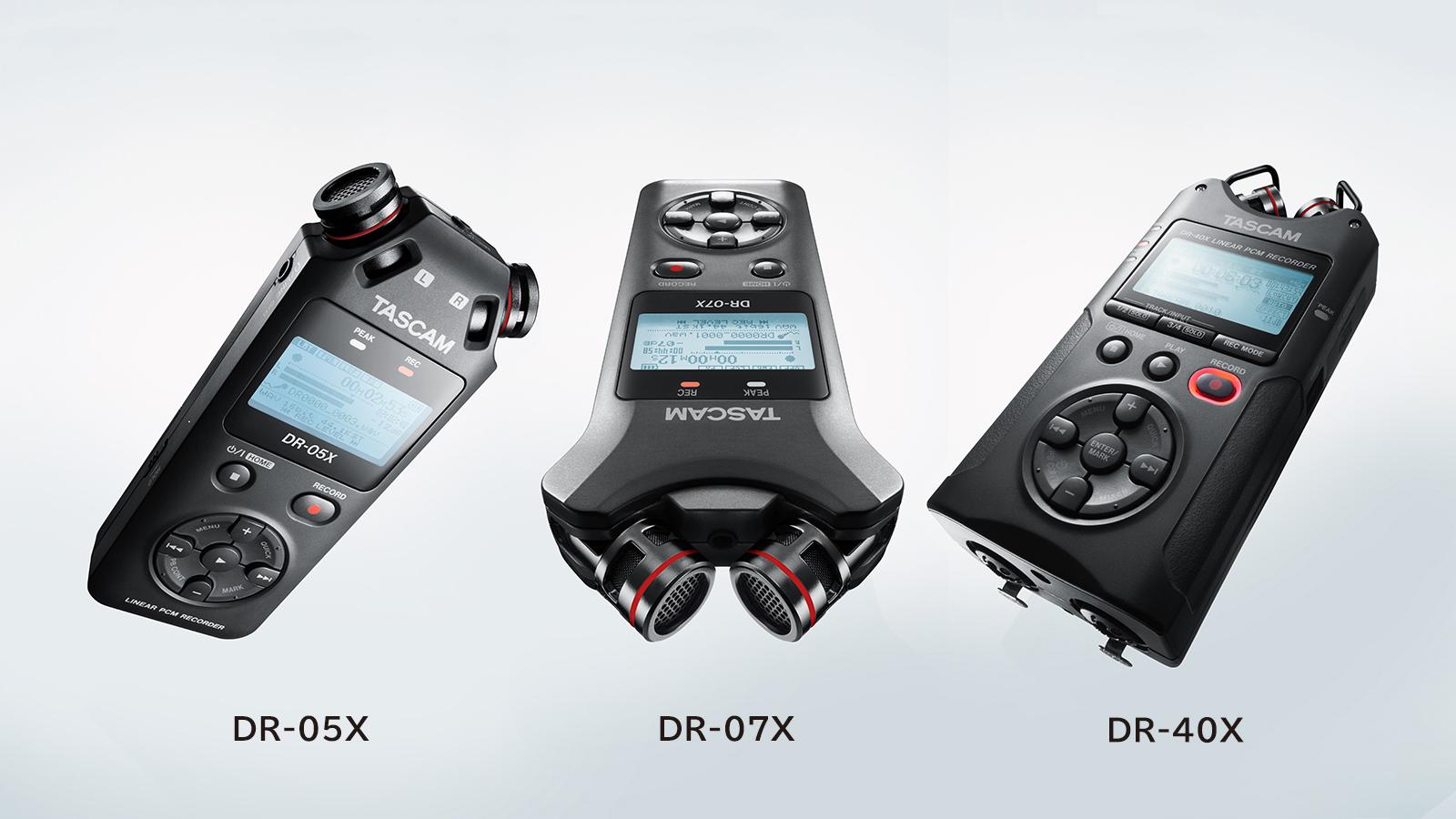 ה-DR-X - סדרת מכשירי הקלטה ניידים מהדור הבא מ-Tascam