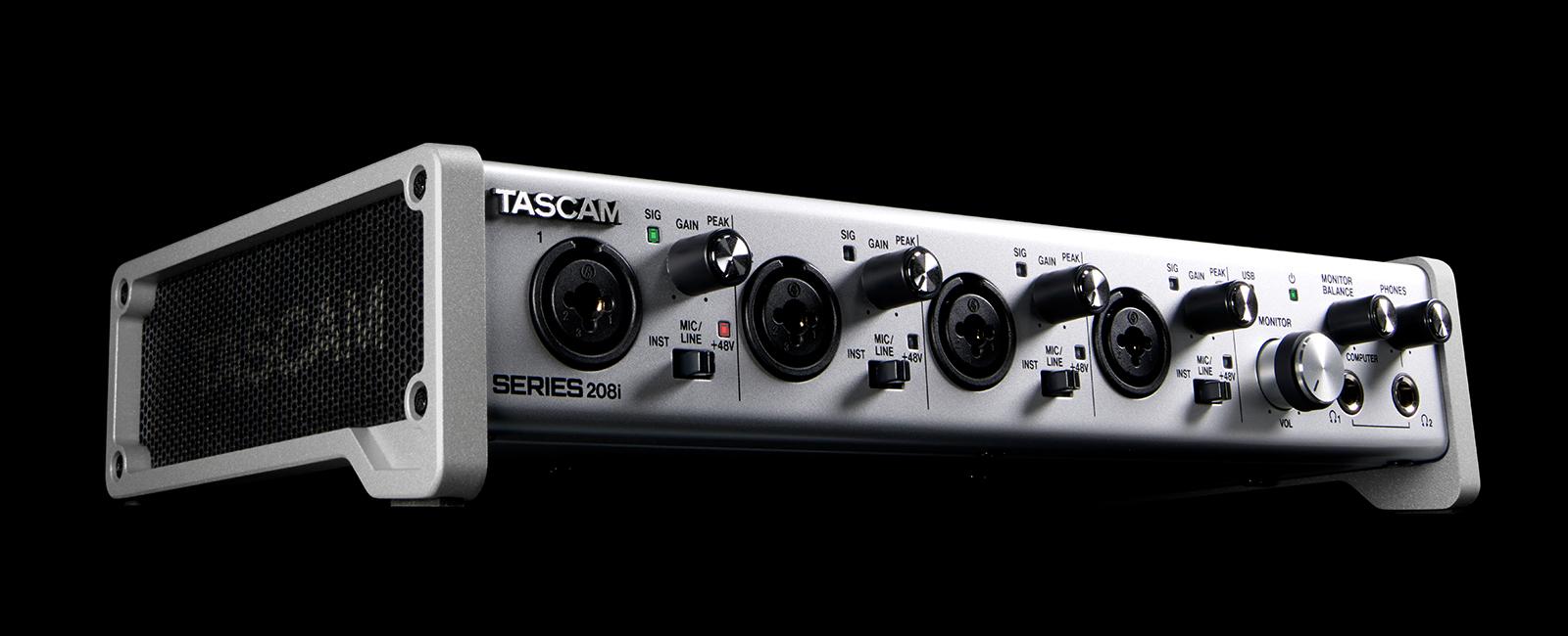 Giới thiệu sản phẩm Sound card thu âm Tascam series 208i