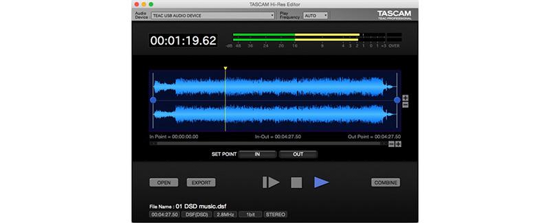 TASCAM Hi-Res Editor | DOWNLOADS | TASCAM - United States