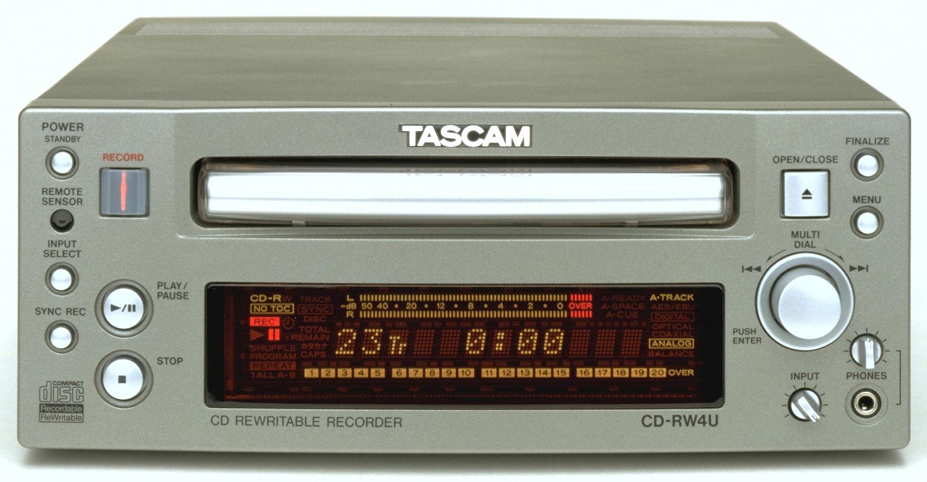 CD-RW4U | FEATURES | TASCAM - United States