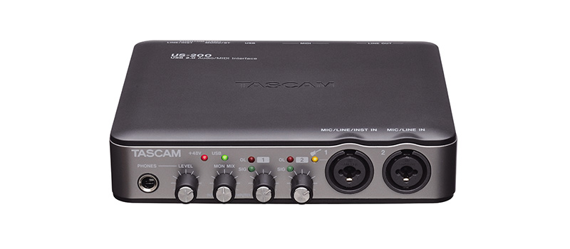 Midi Interface USB Audio Interface TASCAM US-200 USB Audio